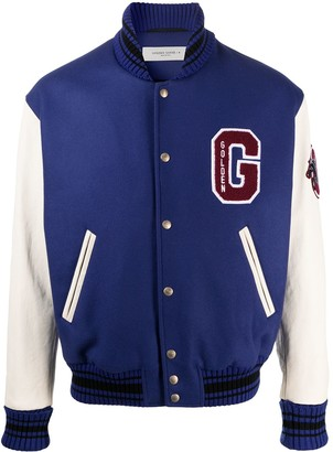 Golden Goose Logo Patch Baseball Jacket