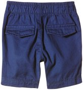 Petit Bateau Twill Shorts (Baby) - Blue-18 Months