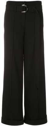 Gloria Coelho Belted Wide-Leg Trousers