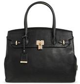 BORSANI Women's Faux Leather Stephen Dome Tote Handbag