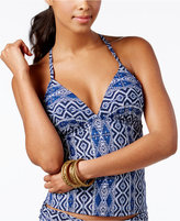 LaBlanca La Blanca Indigo Printed Push-Up Ladder-Back Tankini Top