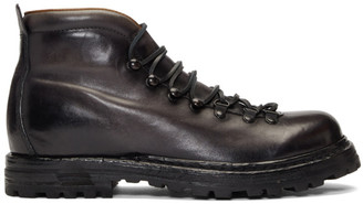 Officine Creative Black Kontra 003 Boots