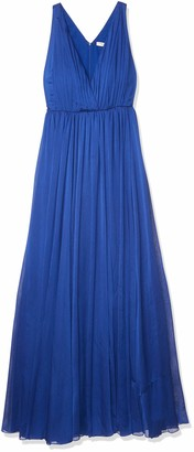 Halston Women's Sleeveless V Neck Chiffon Gown