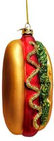 Kurt Adler Glass Hot Dog Ornament