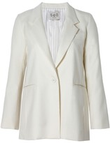 Sea Long Wool Blazer Cream