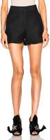 Fendi Light Wool Silk Gazar Ruffle Shorts
