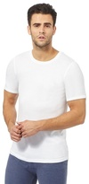 Maine New England Big And Tall White Brushed Thermal T-shirt
