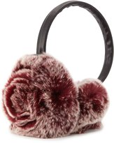 Adrienne Landau Rosette Fur Earmuffs, Berry Snow Top