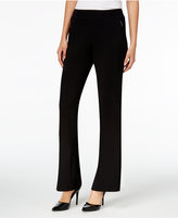 JM Collection Zipper-Pocket Wide-Leg Pants, Only at Macy's