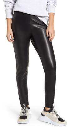 Only Super Star Faux Leather Leggings