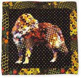 Etro Silk Dog-Print Pocket Square, Yellow Multi