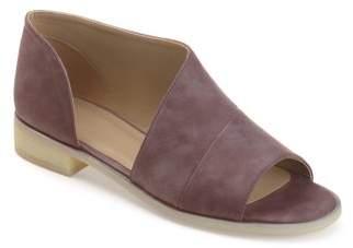 Brinley Co. Women's Faux Leather D'orsay Asymmetrical Open-toe Flats