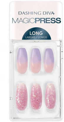 DASHING DIVA Magic Press on Nails Lilac Ice - Long Coffin