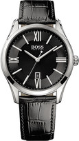 HUGO BOSS 1513022 ambassador watch with leather strap
