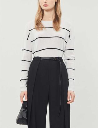The White Company Striped cashmere jumper
