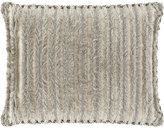 Dian Austin Couture Home Standard Pure Pewter Eyelash Sham with Cording