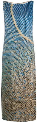 Akris Punto sleeveless printed shift dress