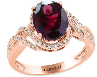 Effy Fine Jewelry 14K Rose Gold 3.13 Ct. Tw. Diamond & Rhodolite Ring