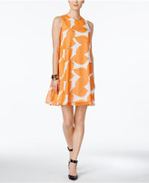 Nine West Printed Trapeze Dress