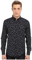 Naked & Famous Denim Regular Kimono Pine Needles Print Shirt