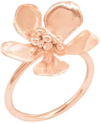 Lily Flo Jewellery Jasmine Blossom Ring In Solid Rose Gold