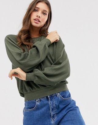 Hollister slouchy long sleeve top