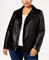 MICHAEL Michael Kors Size Leather Moto Jacket