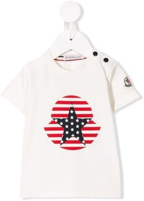 Moncler Enfant star print T-shirt