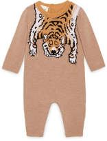 Gucci Baby merino sleepsuit with tiger
