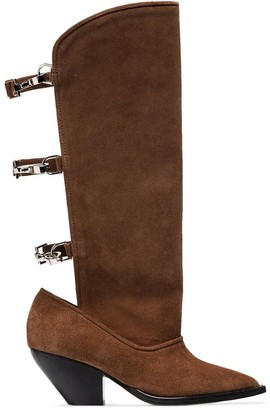 Ganni buckle-fastened boots