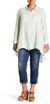 Melissa McCarthy Embroidered Cropped Jean (Plus Size)