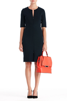 Diane von Furstenberg Saturn Sheath Dress In Navy