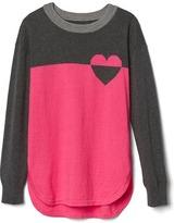 Gap Colorblock heart intarsia sweater