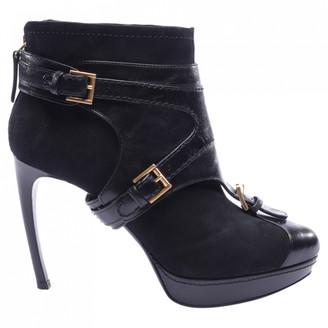 Alexander McQueen Black Rubber Ankle boots