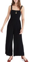 Madewell Women's Smocked Crop Jumpsuit