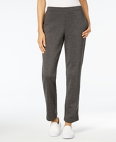 Karen Scott Petite Fleece Pull-On Pants, Created for Macy's