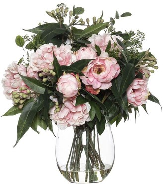 Albi Imports Peony Eucy Mix In Claire Vase Pink 66cmh