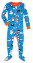 Petit Lem Little Boy's Robot Print Footie