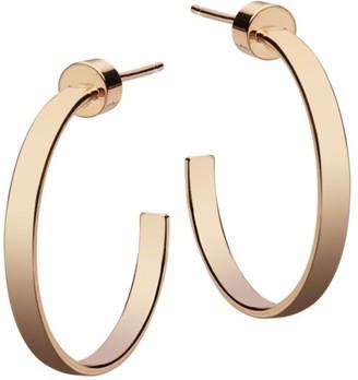 Jennifer Zeuner Jewelry Kiara 14K Goldplated Hoop Earrings