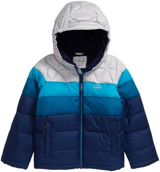 L.L. Bean Kids' Water Resistant Hooded Down Jacket