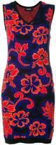 DSQUARED2 sleeveless v-neck floral dress