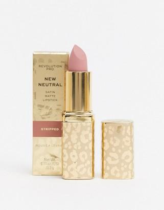 Revolution Pro New Neutrals Satin Matte Lipstick - Stripped