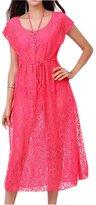 DaiLiWei Womens Summer Loose Dress Swimsuit Cover-up See Through Beach Dress M-XL