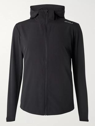 2XU XVENT Mesh-Panelled Stretch-Jersey Hooded Jacket - Men - Black