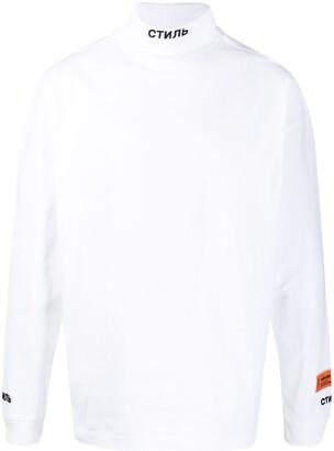Heron Preston Embroidered Roll Neck Sweatshirt