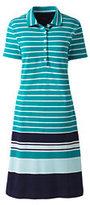 Classic Women's Short Sleeve Mesh Polo Dress-Black