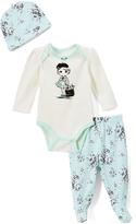 Vitamins Baby Green 'Miss Fabulous' Bodysuit Set - Infant
