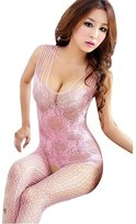 ABC Women's Open Crotch Lingerie Stocking Mesh Fishnet Bodystocking