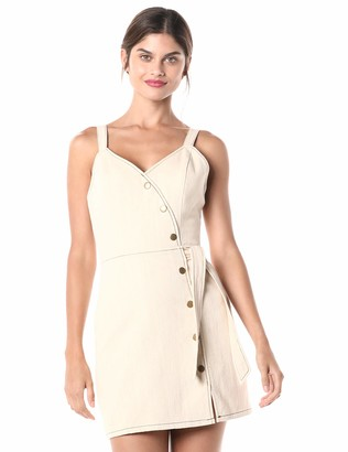 Moon River Women's Sleeveless Short Dress with X Back