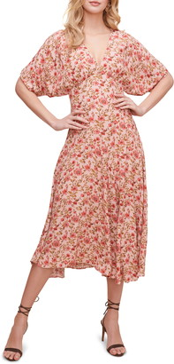 ASTR the Label Dolman Sleeve Midi Dress